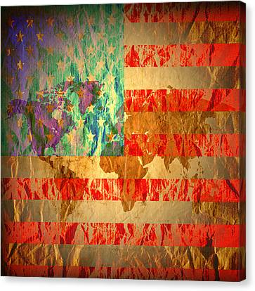 Stripes And Stars  Canvas Print by Jerry Cordeiro