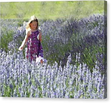 Canvas Print featuring the photograph Stroll Through The Lavender by Brooke T Ryan