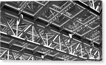 Structural Network Canvas Print