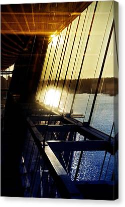 Canvas Print featuring the photograph Structural Vision by JM Photography