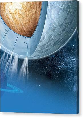 Structure Of Enceladus, Artwork Canvas Print by Claus Lunau