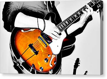 Strummin Dan Canvas Print by Empty Wall