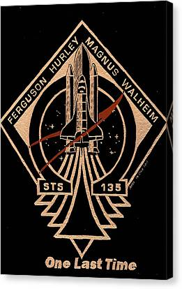 Sts-135 One Last Time Canvas Print by Jim Ross