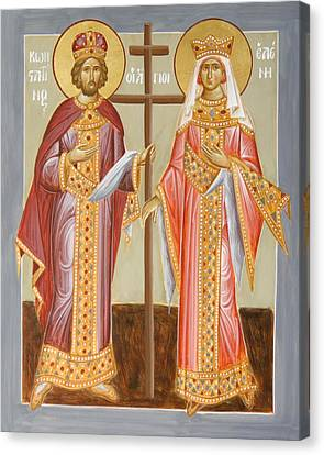 Sts Constantine And Helen Canvas Print by Julia Bridget Hayes