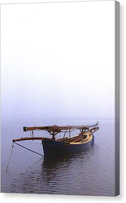 Stuck In Port Canvas Print by Skip Willits