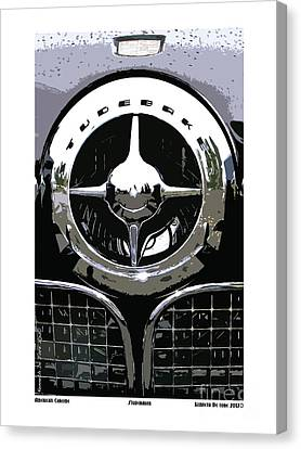 Canvas Print featuring the photograph Studebaker American Chrome by Kenneth De Tore