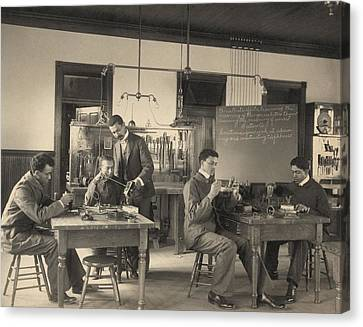 Students Constructing Telephones Canvas Print by Everett