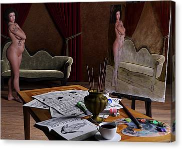 Studio Life Canvas Print by Maynard Ellis