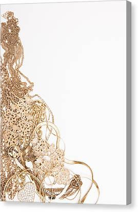 Studio Shot Of Gold Jewelry Canvas Print by Vstock LLC