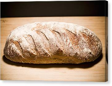 Studio Shot Of Loaf Of Bread Canvas Print