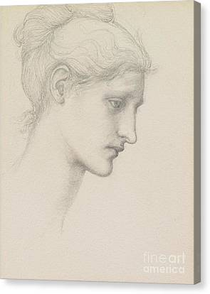 Study For Laus Veneria Canvas Print by Sir Edward Burne Jones