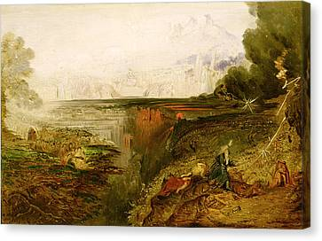 Study For The Last Judgement Canvas Print by John Martin