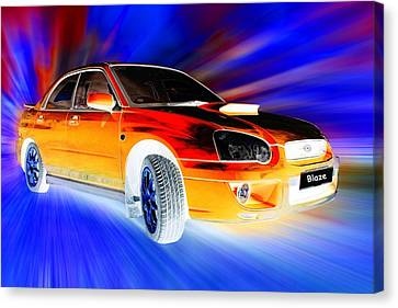 Subaru Impreza Canvas Print - Subaru by Sharon Lisa Clarke