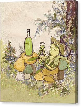 Sublime Chablis Canvas Print by Peggy Wilson