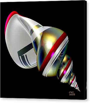 Canvas Print featuring the digital art Sublime Shell by Manny Lorenzo