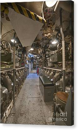 Submarine Engine Room Canvas Print by Rob Tilley