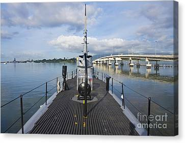 Submarine Surface Deck Canvas Print by Rob Tilley