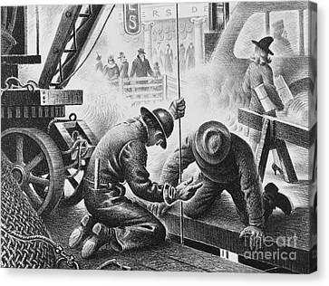 Subway Construction, C. 1930 Canvas Print