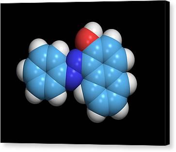 Sudan Red Canvas Print - Sudan 1 Molecule by Dr Tim Evans