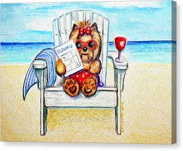 Sudoku At The Beach Canvas Print by Catia Cho