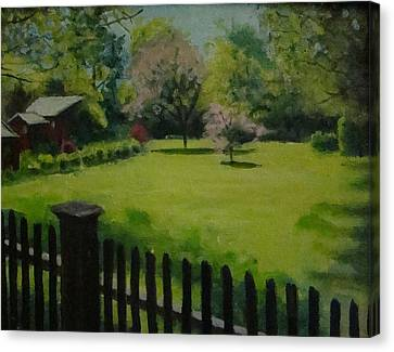 Sue's Yard Canvas Print by Mark Haley