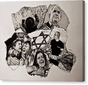 Suffering-israel Canvas Print by Tj Voelker