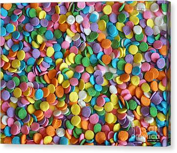 Sugar Confetti Canvas Print by Methune Hively