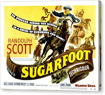 Sugarfoot, Randolph Scott, 1951 Canvas Print
