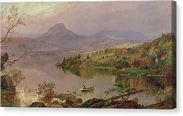 Maine Mountains Canvas Print - Sugarloaf From Wickham Lake by Jasper Francis Cropsey