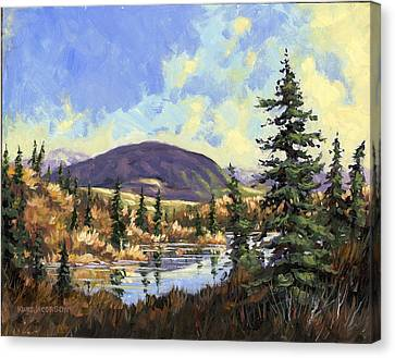 Canvas Print featuring the painting Sugarloaf Mountain by Kurt Jacobson