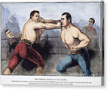 Sullivan Canvas Print - Sullivan & Kilrain Fight by Granger