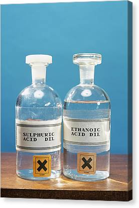 Sulphuric And Ethanoic Acid Canvas Print