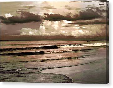 Summer Afternoon At The Beach Canvas Print by Steven Sparks