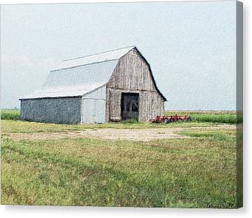 Canvas Print featuring the digital art Summer Barn by Debbie Portwood