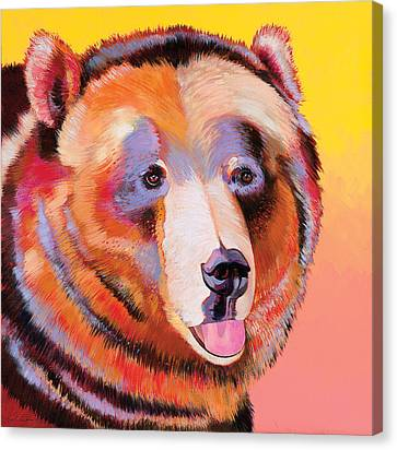 Summer Bear Canvas Print by Bob Coonts