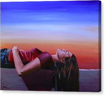 Summer Evenings Canvas Print by Jerry Frech
