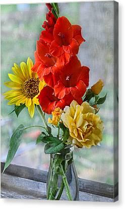Summer Floral Canvas Print by Debbie Portwood