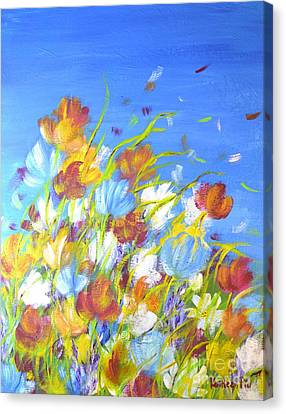 Summer Flowers Canvas Print by Kathleen Pio