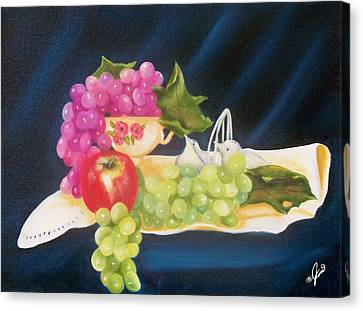 Still Life Canvas Print - Summer Fruit by Joni McPherson