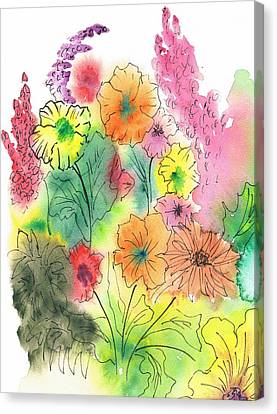 Summer Garden Canvas Print by Christine Crawford