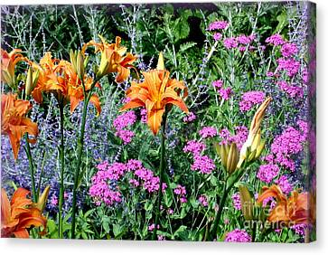 Canvas Print featuring the photograph Summer Garden by Tanya  Searcy