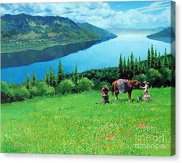 Summer Grass Canvas Print by Isao Ito