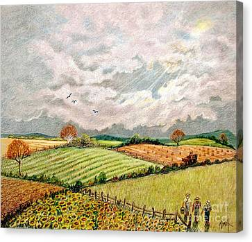 Summer Harvest Canvas Print by Marilyn Smith