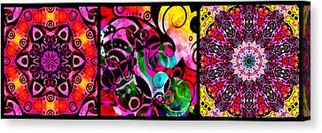 Summer Introspection Of An Extrovert Triptych Horizontal Canvas Print by Angelina Vick