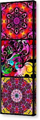 Summer Introspection Of An Extrovert Triptych Vertical Canvas Print by Angelina Vick