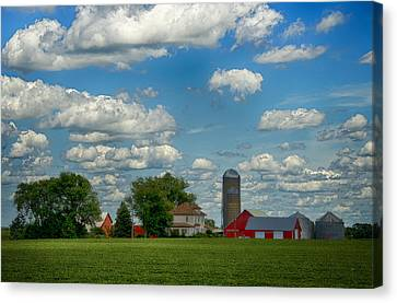 Summer Iowa Farm Canvas Print by Bill Tiepelman