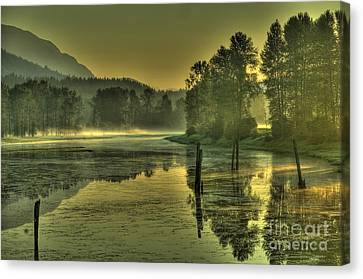 Summer Morning Canvas Print by Rod Wiens