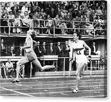 Footrace Canvas Print - Summer Olympics, 1952 by Granger