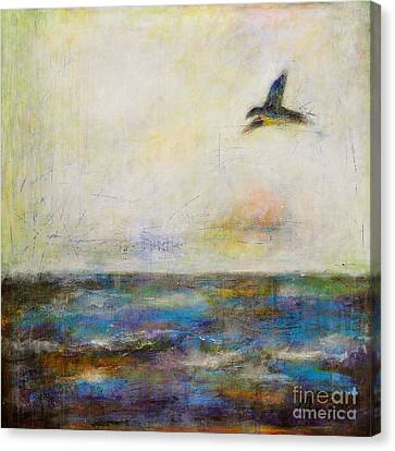 Summer Series The Fog Is Setting In Canvas Print by Johane Amirault