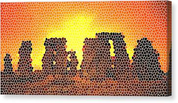 Summer Solstice At Stonehenge Canvas Print by Steve Huang